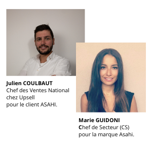 Julien Coulbaut, Chef des Ventes National chez Upsell pour le client ASAHI.